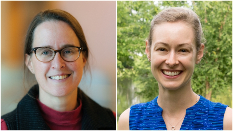 Kathryn Cottingham and Cayelan Carey '06 have studied cyanobacteria together for close to two decades.